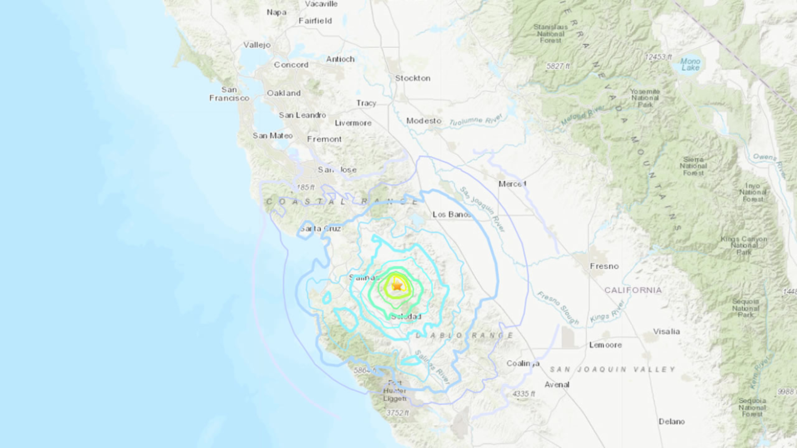 4.7 earthquake reported near Hollister comes after 4.5 temblor hit in Bay Area - KGO-TV
