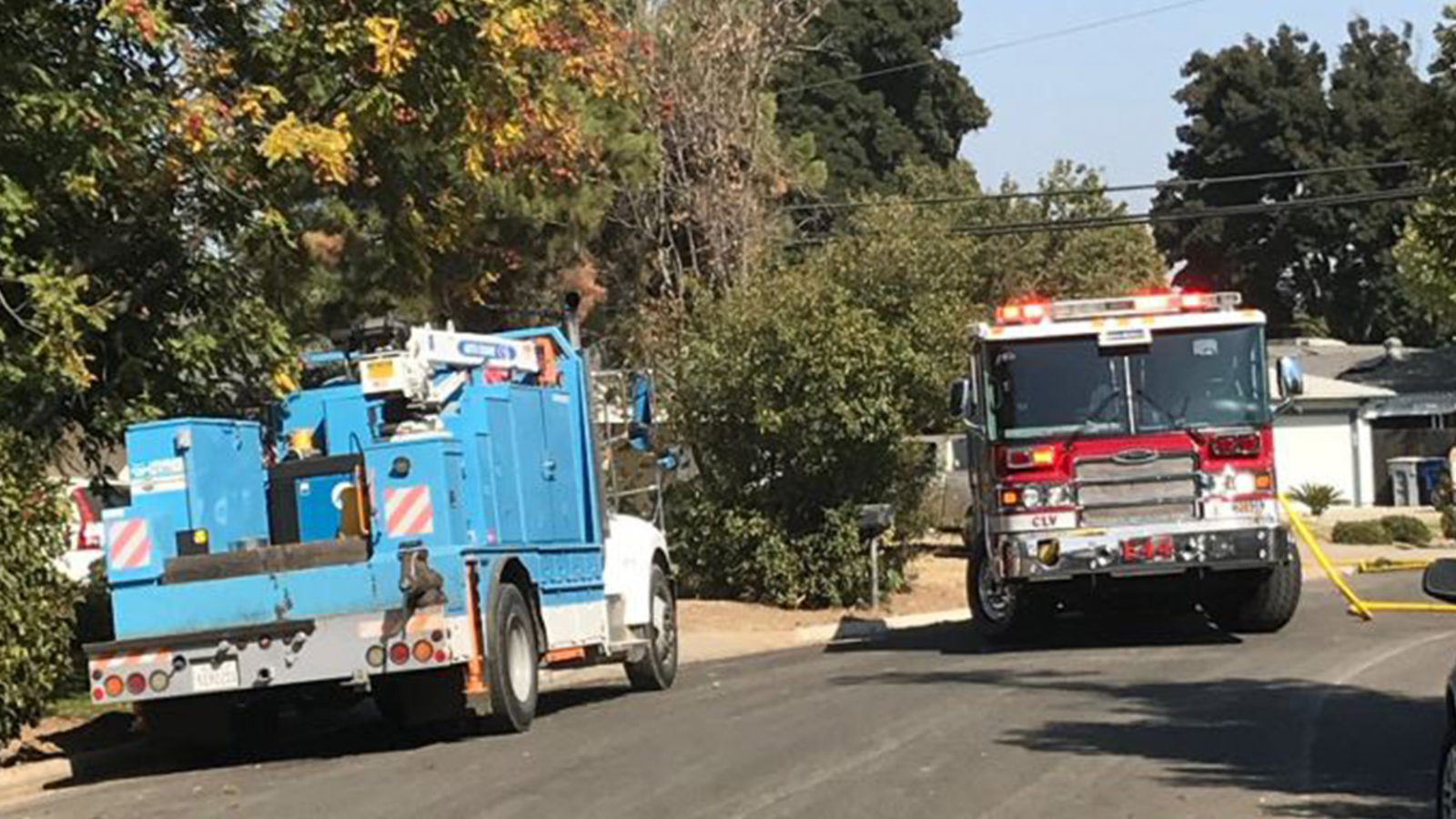 Fresno County road closed, homes evacuated due to gas leak