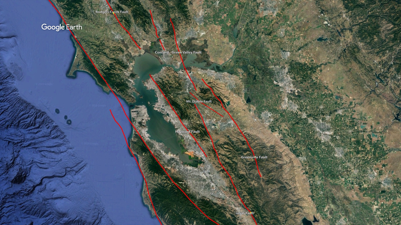 Picture of: Map Significant San Francisco Bay Area Fault Lines And Strong Earthquakes Abc7 San Francisco