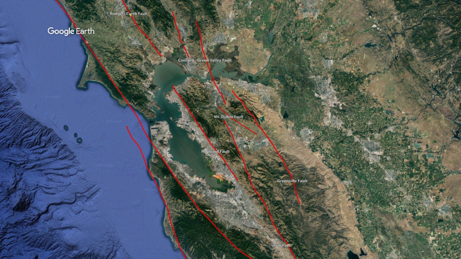 MAP: Significant Bay Area faults and strong earthquakes