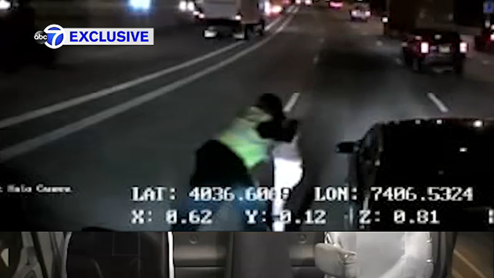 Search for driver who damaged tractor trailer with bat in Staten Island road rage incident