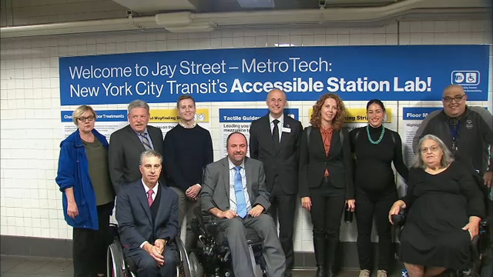 MTA unveils new 'accessibility laboratory' in Brooklyn testing commuter ideas for disabled riders