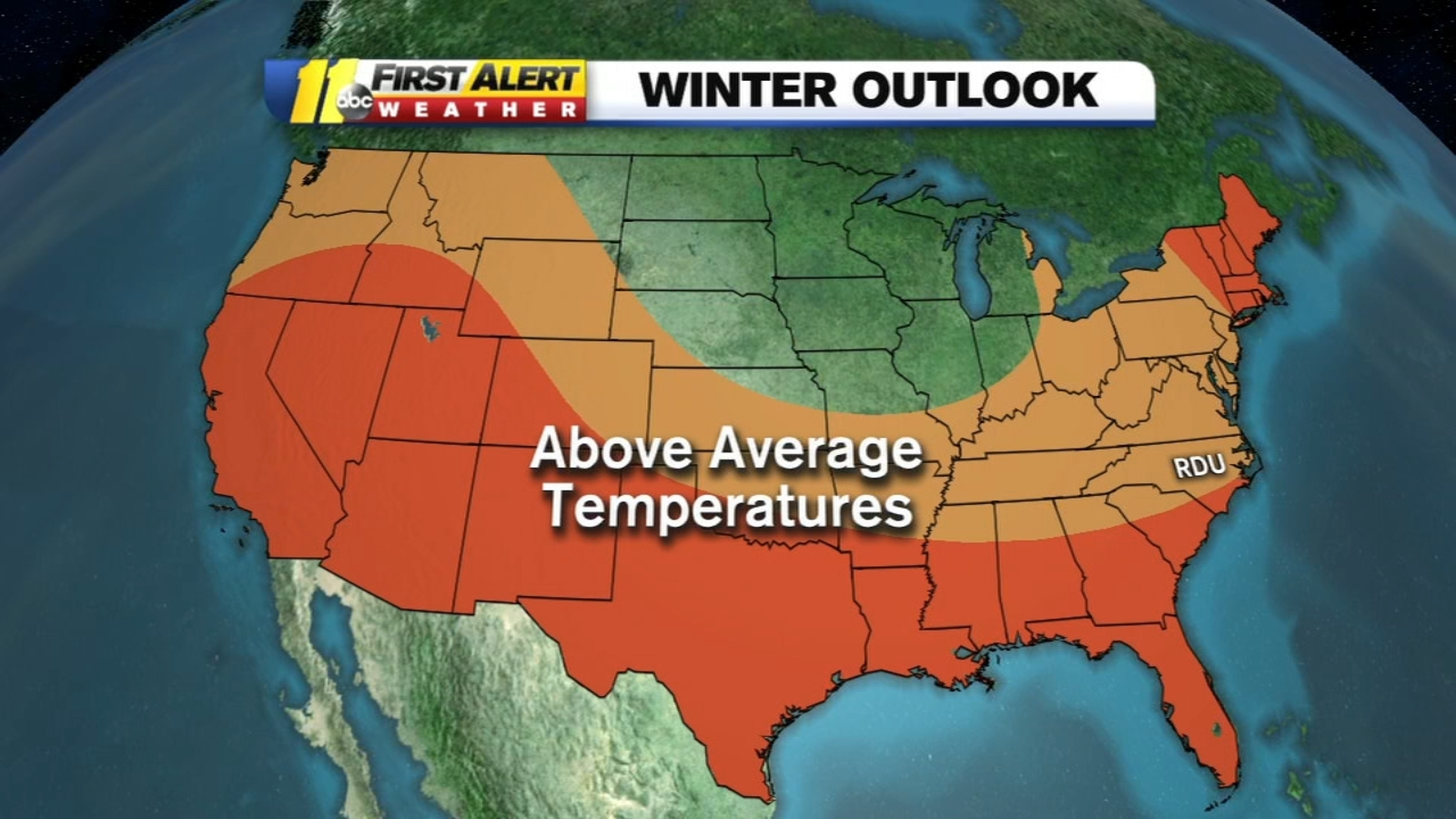 Winter Outlook: NC expects to have warmer than average winter