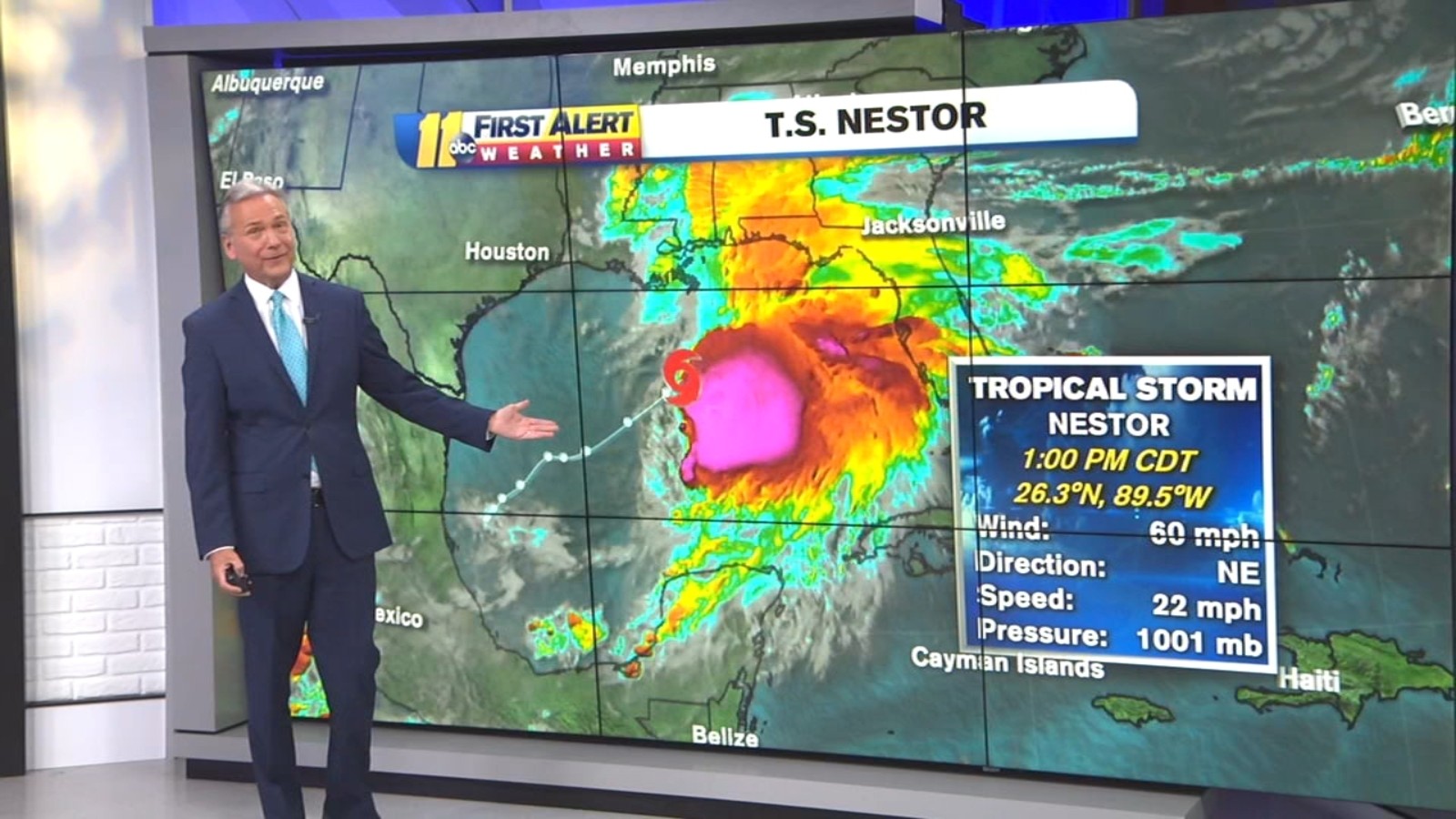 Tropical Storm Nestor races toward Florida Panhandle, could bring rain and strong winds to NC