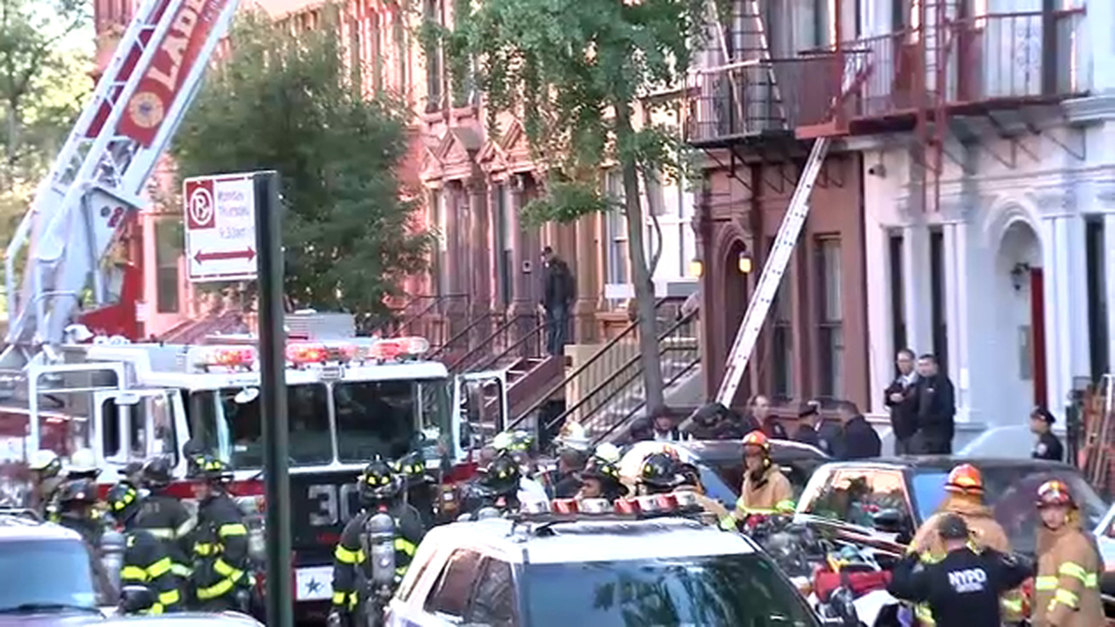 3 dead after shooting and fire at building in Harlem