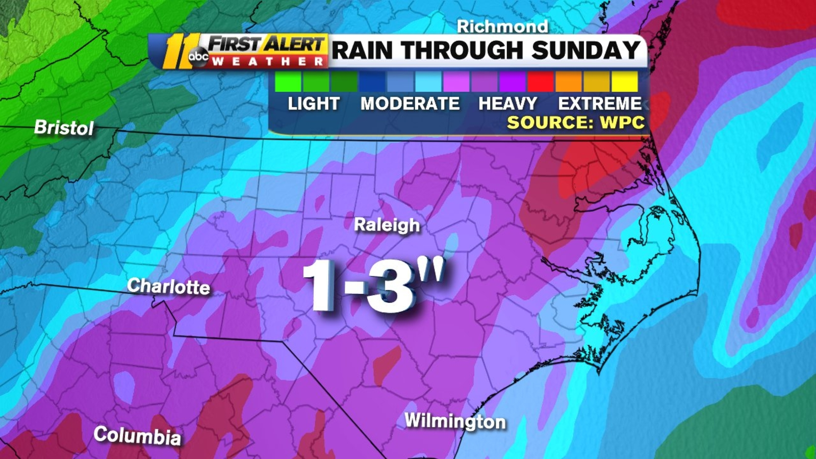 Tropical Storm Nestor downgraded, expected to bring rain to central NC Sunday