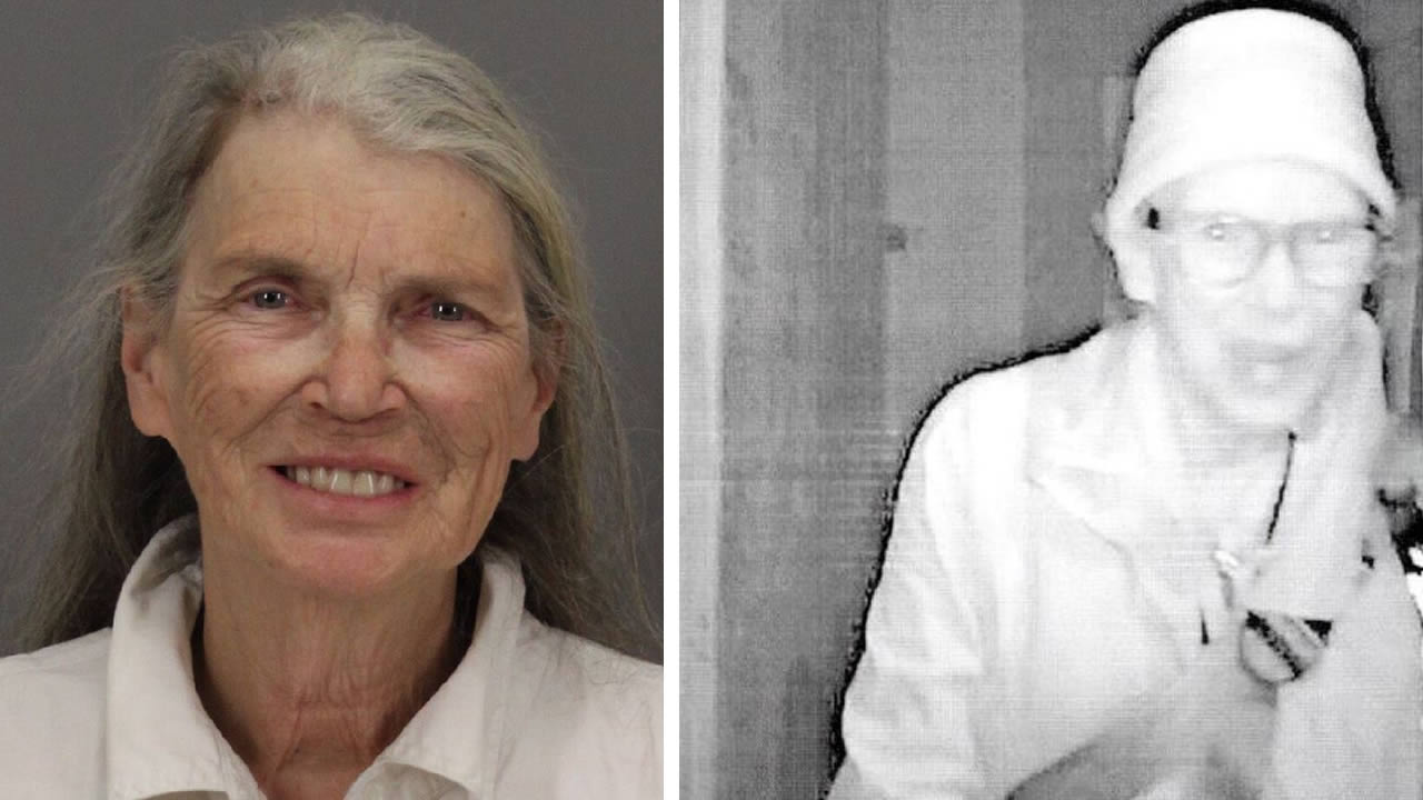 Authorities say 70-year-old Ethel Jean Hayes is suspected in a pair of burglaries at a Palo Alto church and the theft of property from a school in Los Altos.