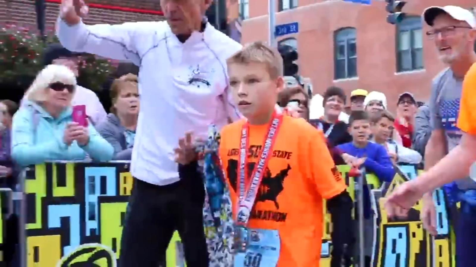 Illinois boy, 11, completes half marathon in all 50 states