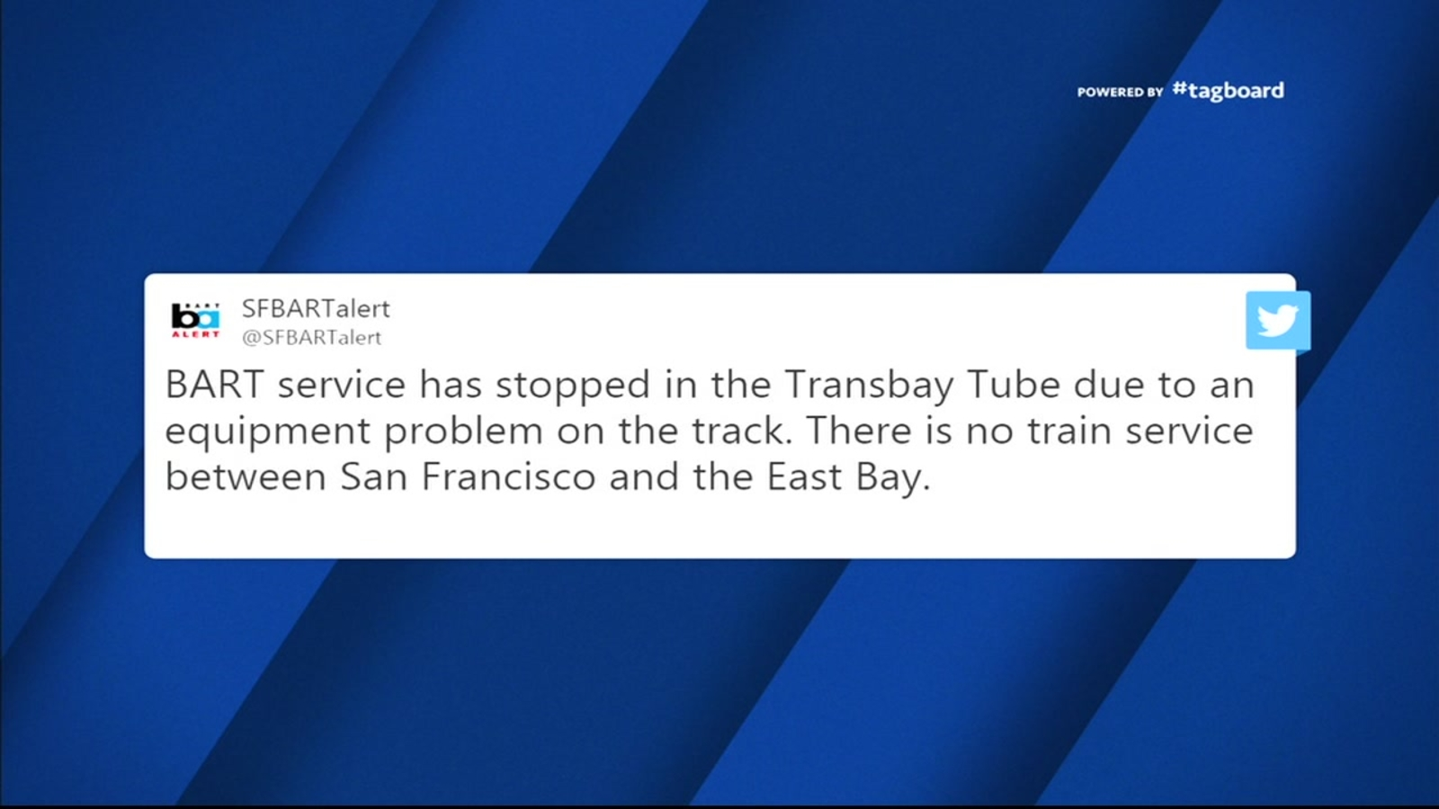 BART service comes to halt between San Francisco to East Bay during rush hour