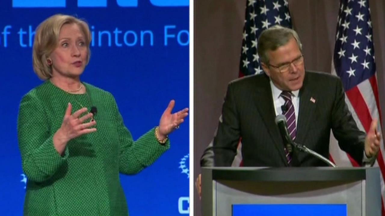 Hillary Clinton and Jeb Bush
