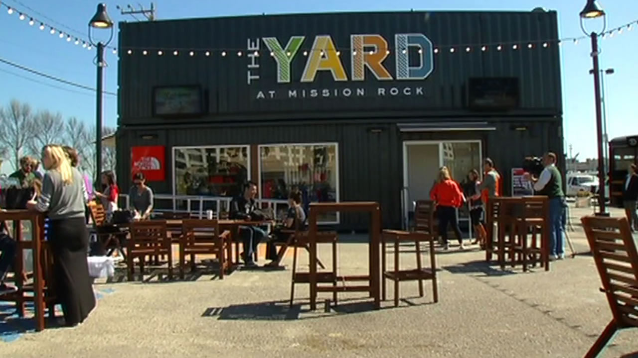 The Yard at Mission Rock opens Friday, March 20, 2015 at noon.
