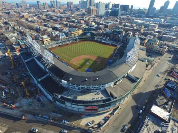 "<div class=""meta image-caption""><div class=""origin-logo origin-image none""><span>none</span></div><span class=""caption-text"">Chicago-based photographer Colin Hinkle shot drone video this week to see how the construction at Wrigley Field is coming along. (Colin Hinkle/Soaring Badger Productions)</span></div>"