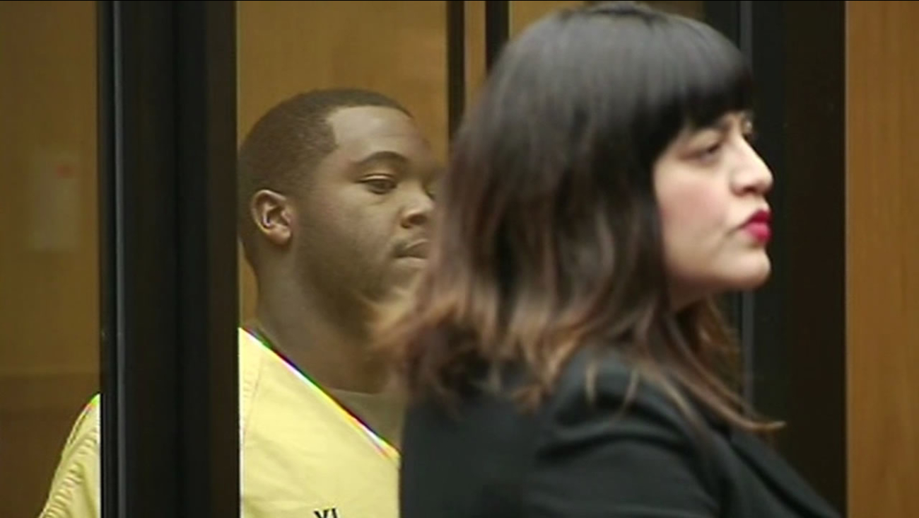 Anthony Sims, who is charged with the murder of Oakland mother Chyemil Pierce, appeared in court Thursday.
