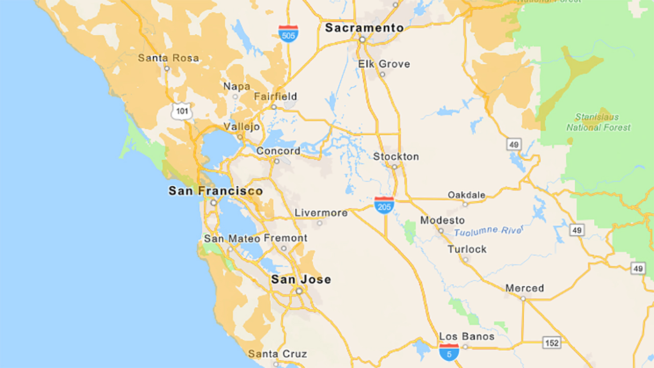 Pg E Power Outage Shut Off Maps Showing Bay Area Counties Affected By Pg E Power Shutdown Abc7 San Francisco