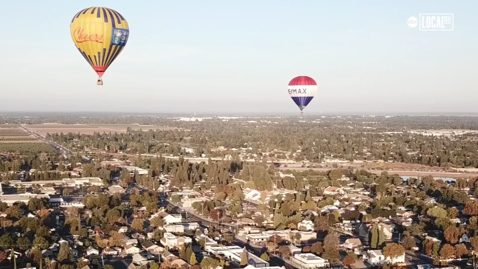 Hot air balloons take to the skies above Clovis
