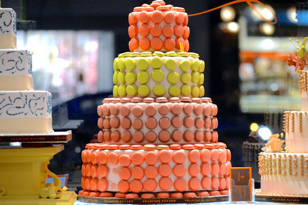 """<div class=""""meta image-caption""""><div class=""""origin-logo origin-image none""""><span>none</span></div><span class=""""caption-text"""">A macaron-covered cake on display at Francois Payard's bakery, located on 3rd Ave. and 74th.</span></div>"""