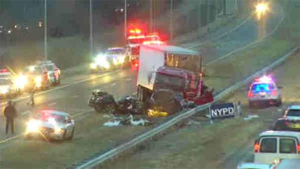 Off-duty police in fatal wrong-way crash had left strip club