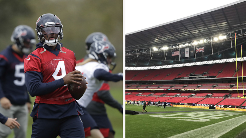 Texans Take On Jaguars In First Ever Game At Wembley Stadium