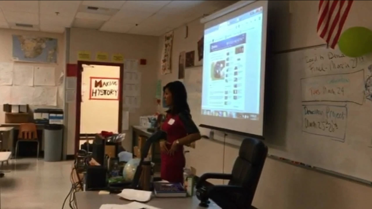 Kristen Sze went back to her high school alma mater for Career Day.