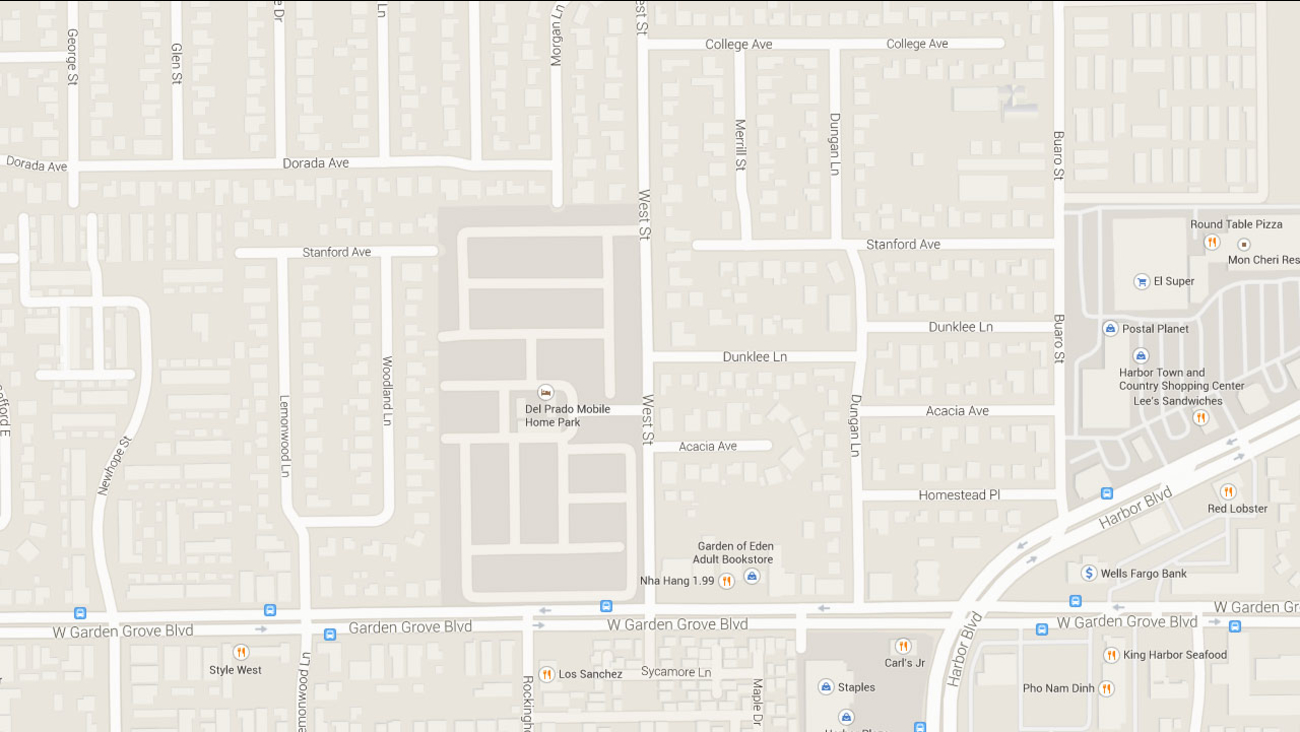 A Google Maps image indicates the area near the 12000 block of Dunklee Lane in Garden Grove.