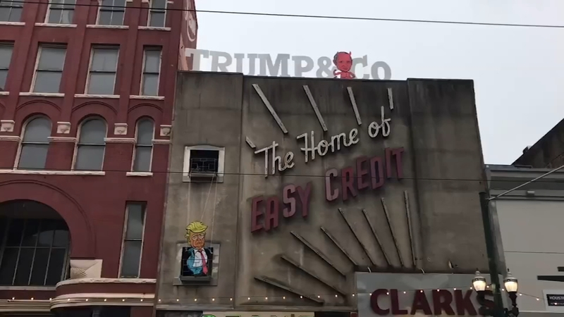 Trump Sign Is Turning Heads Downtown