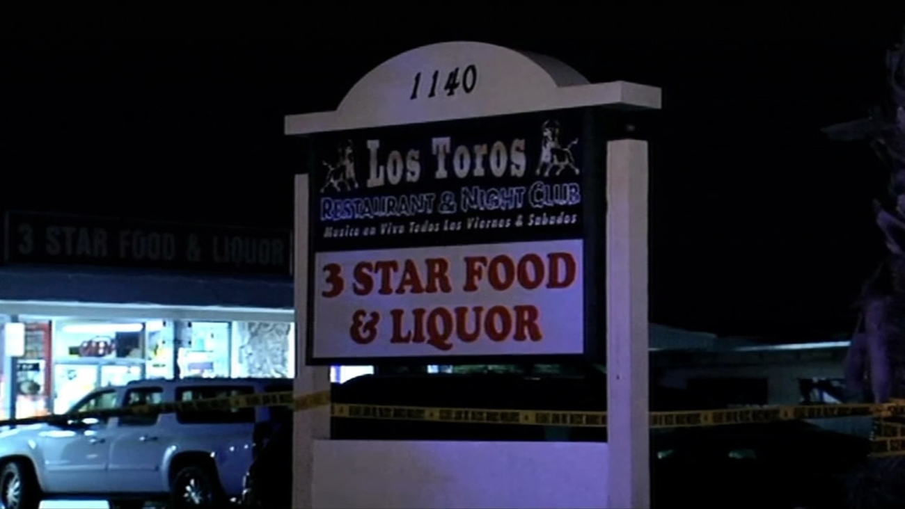Police are investigating a stabbing at Los Toros Restaurant and Night Club in Concord, Calif. on March 22, 2015.