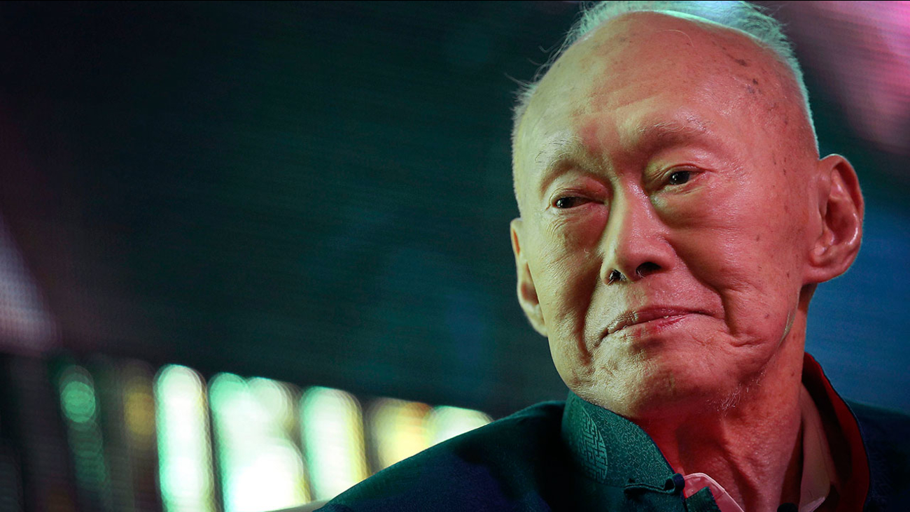 Singapore's first Prime Minister Lee Kuan Yew died Monday, March 23, 2015 following a bout with severe pneumonia. He was 91.