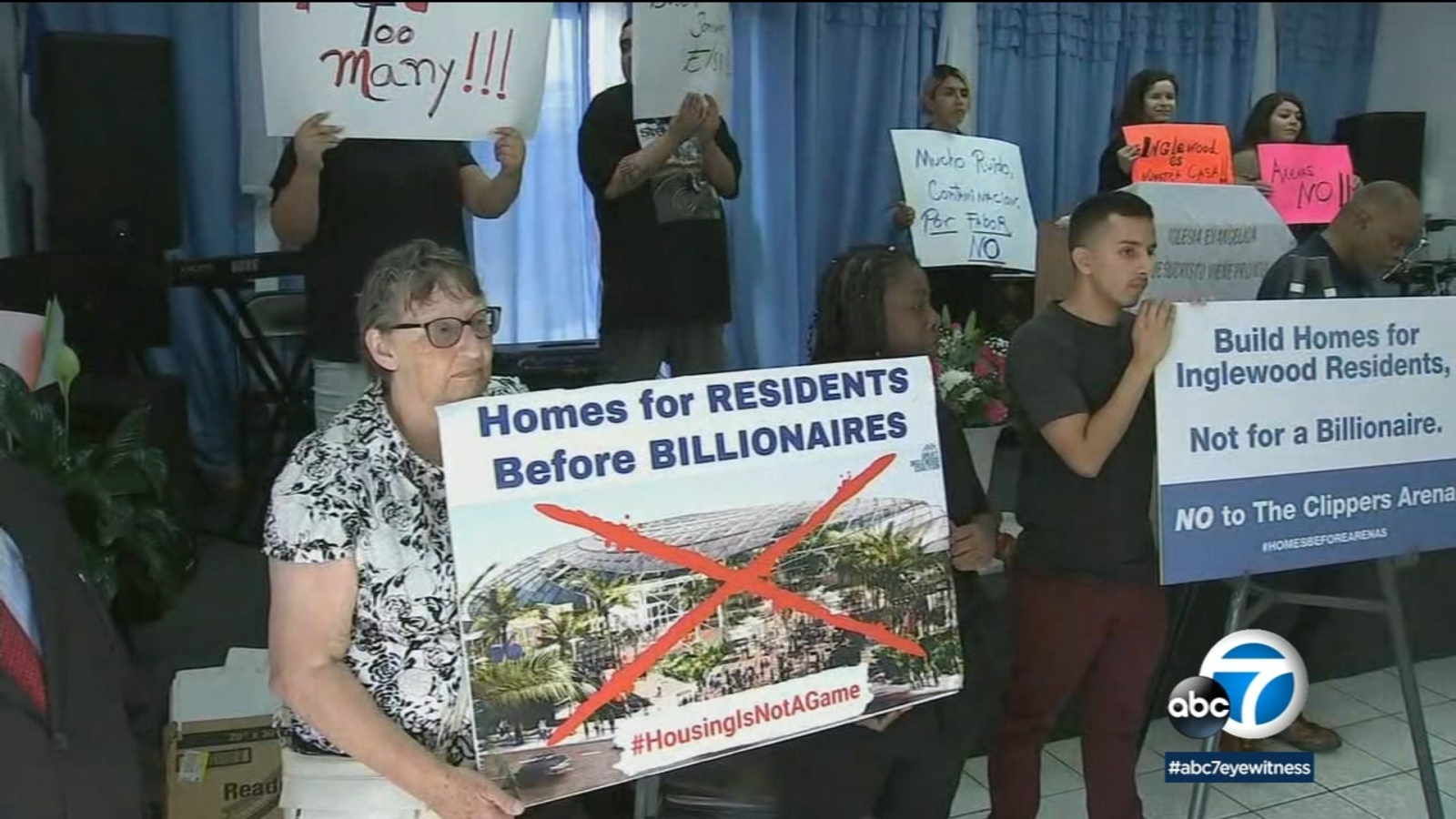 Clippers arena: Protesters ramp up battle against Inglewood site - KABC-TV