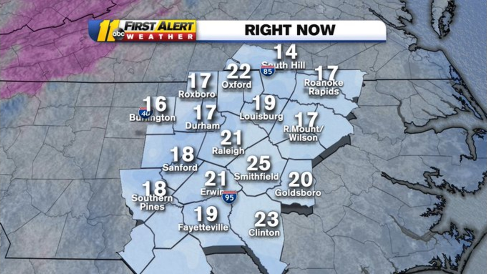 Coldest morning of the fall greets North Carolina