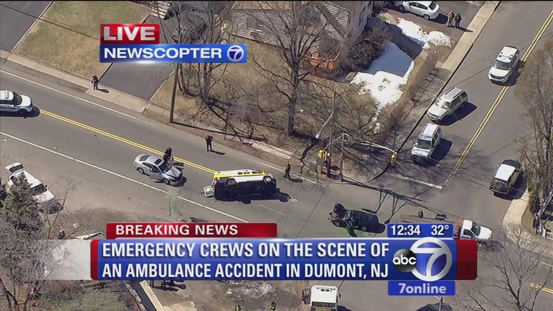 Ambulance accident in Dumont, NJ
