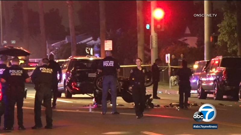 Santa Ana motorcycle officer transported after crash with patrol vehicle