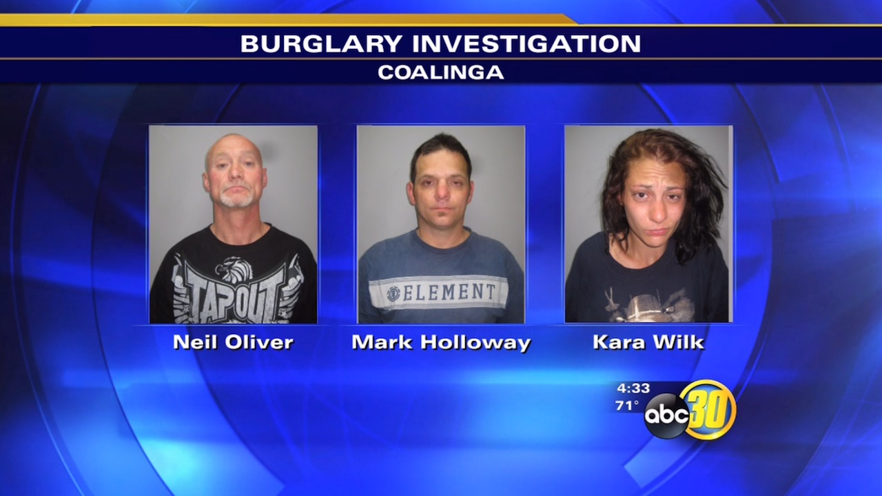 3 nabbed for attempted burglary in Coalinga