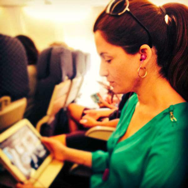 "<div class=""meta image-caption""><div class=""origin-logo origin-image none""><span>none</span></div><span class=""caption-text"">Natasha Barrett on the flight to Los Angeles</span></div>"