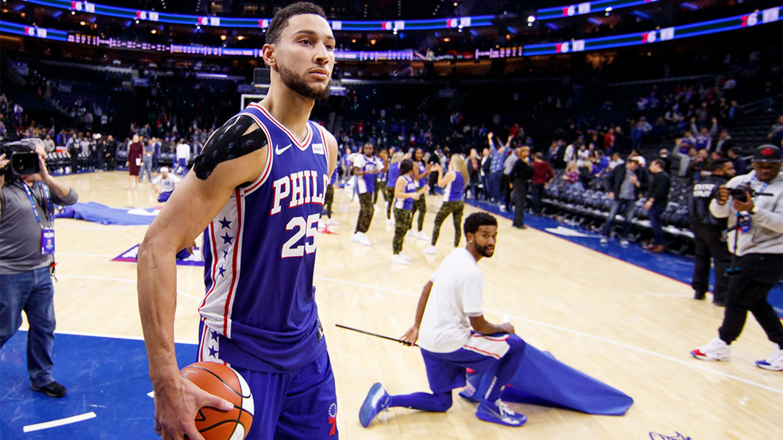 WATCH: Ben Simmons hits first career NBA 3-pointer in 76ers' win