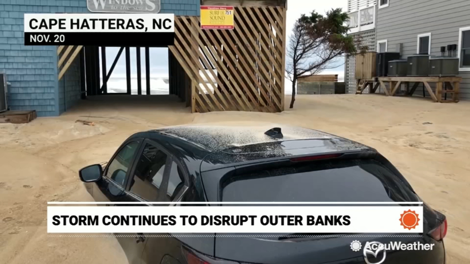 Outer Banks buried in sand following weekend's destructive nor'easter
