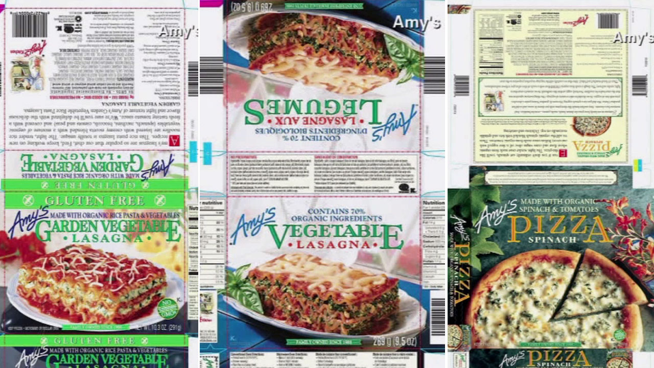 Amy's Kitchen has voluntarily recalled nearly 74,000 cases of its frozen meals containing spinach due to possible listeria contamination.