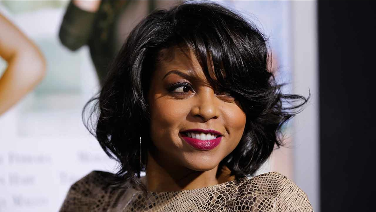 Taraji P. Henson poses at The Pan African Film & Arts Festival's opening night premiere of Screen Gems' 'Think Like a Man' in Los Angeles, Thursday, Feb. 9, 2012.