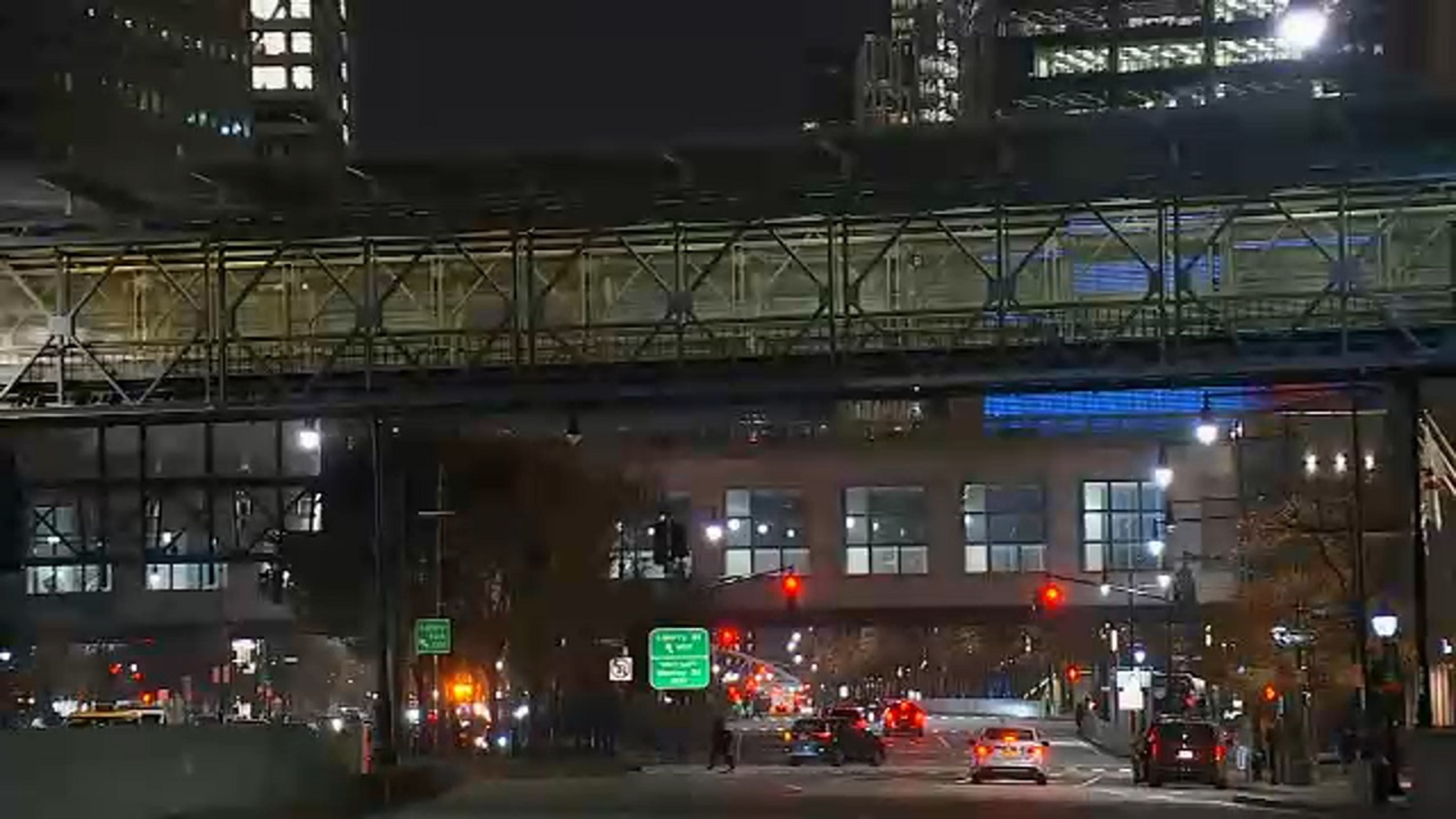 Controversy over replacement of temporary Rector Street pedestrian bridge