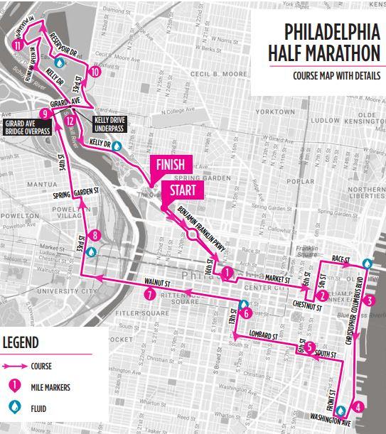 philadelphia marathon course map 2019 Philadelphia Marathon Info Course Road Closures 6abc philadelphia marathon course map