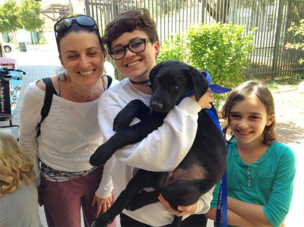 "<div class=""meta image-caption""><div class=""origin-logo origin-image none""><span>none</span></div><span class=""caption-text"">Glendale resident Diana and her daughters Paris, London and Milan are now first-time dog owners... they adopted Bucky! (KABC)</span></div>"