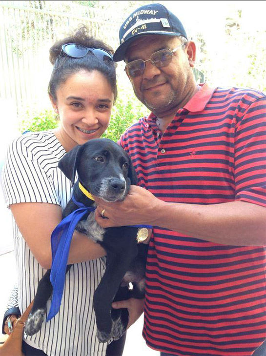 "<div class=""meta image-caption""><div class=""origin-logo origin-image none""><span>none</span></div><span class=""caption-text"">Leo and Sara Acosta from South Gate took Bruno home. (KABC)</span></div>"