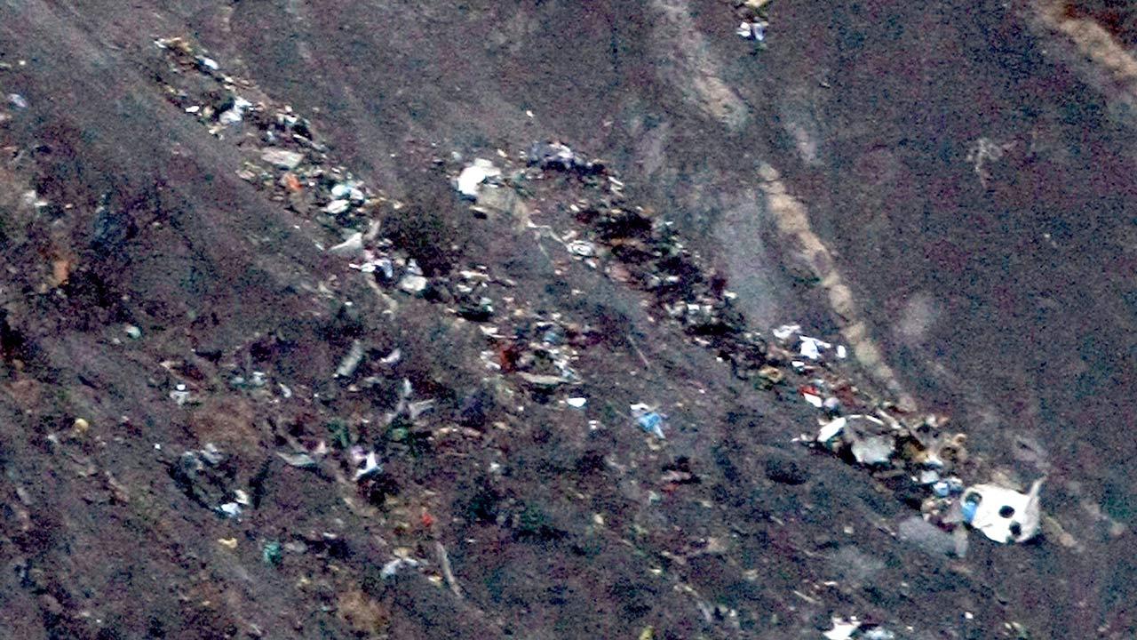 Debris of the Germanwings passenger jet