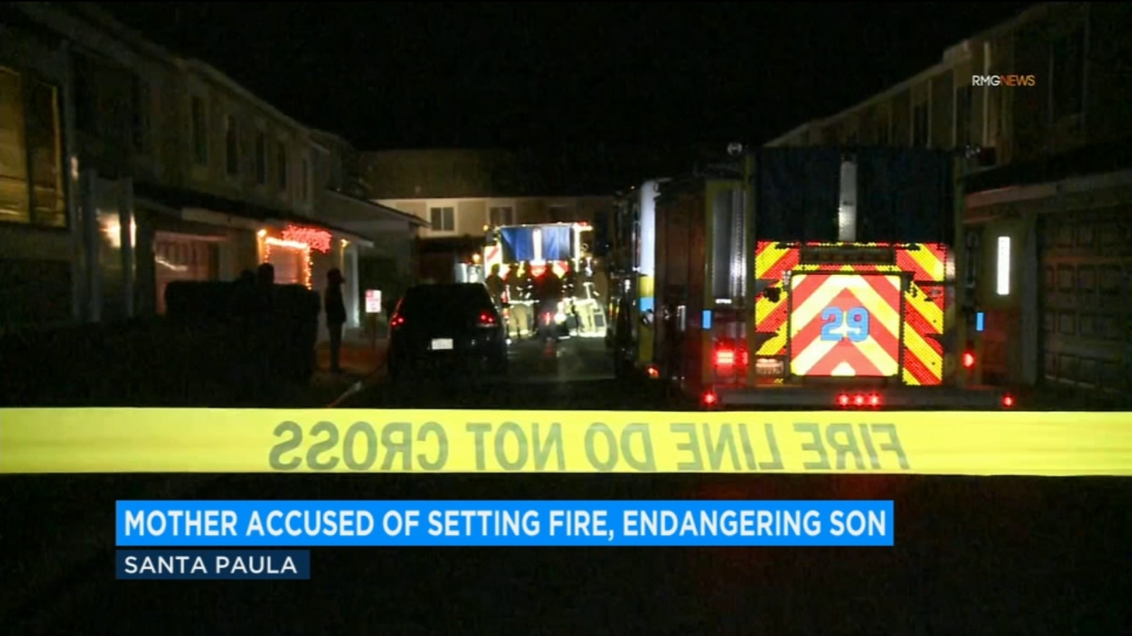 Mother accused of tying up 3-year-old son, setting their Santa Paula home on fire