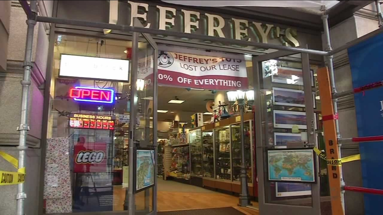 Toy store Jeffrey's on Market Street in San Francisco closing because of rent increase