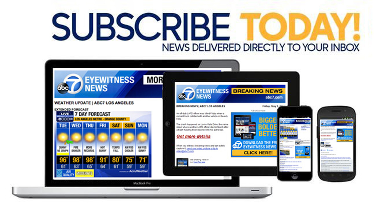 Sign up for free newsletters from ABC7