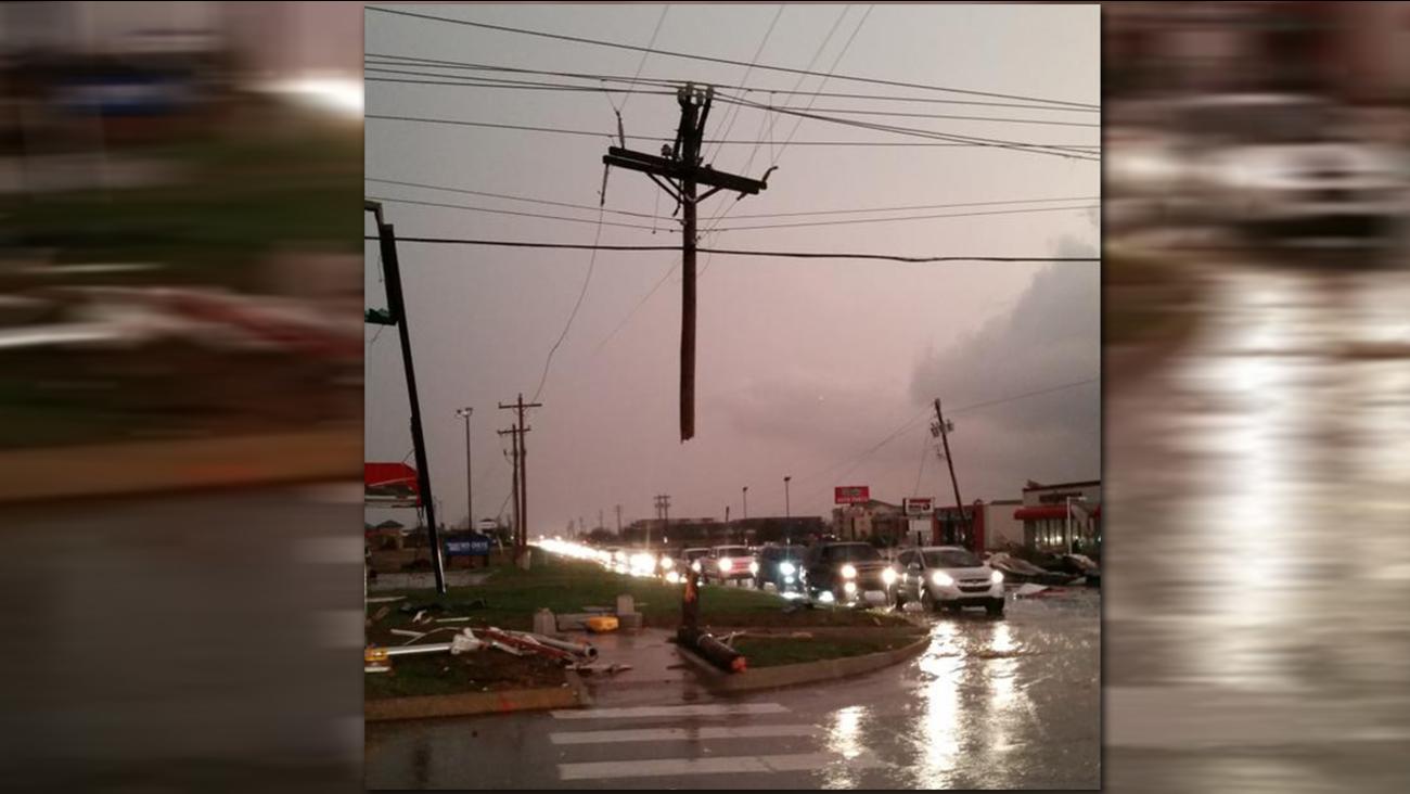 Cross in storm damage