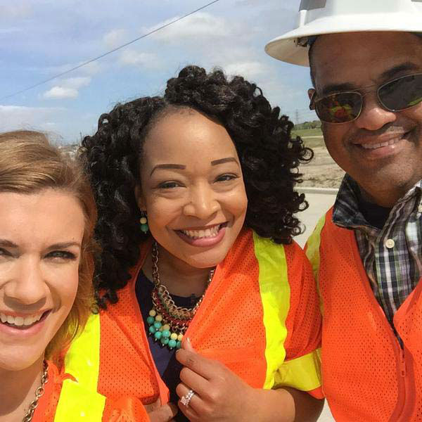 """<div class=""""meta image-caption""""><div class=""""origin-logo origin-image none""""><span>none</span></div><span class=""""caption-text"""">Rebecca Spera hanging out with the folks from TxDOT (KTRK Photo)</span></div>"""