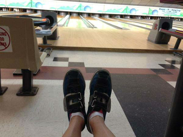 """<div class=""""meta image-caption""""><div class=""""origin-logo origin-image none""""><span>none</span></div><span class=""""caption-text"""">Christine Dobbyn traded in her heels for bowling shoes for a story (KTRK Photo)</span></div>"""