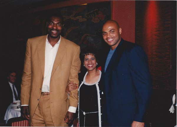 <div class='meta'><div class='origin-logo' data-origin='none'></div><span class='caption-text' data-credit='KTRK Photo'>Melanie Lawson with Hakeem Olajuwon and Charles Barkley</span></div>