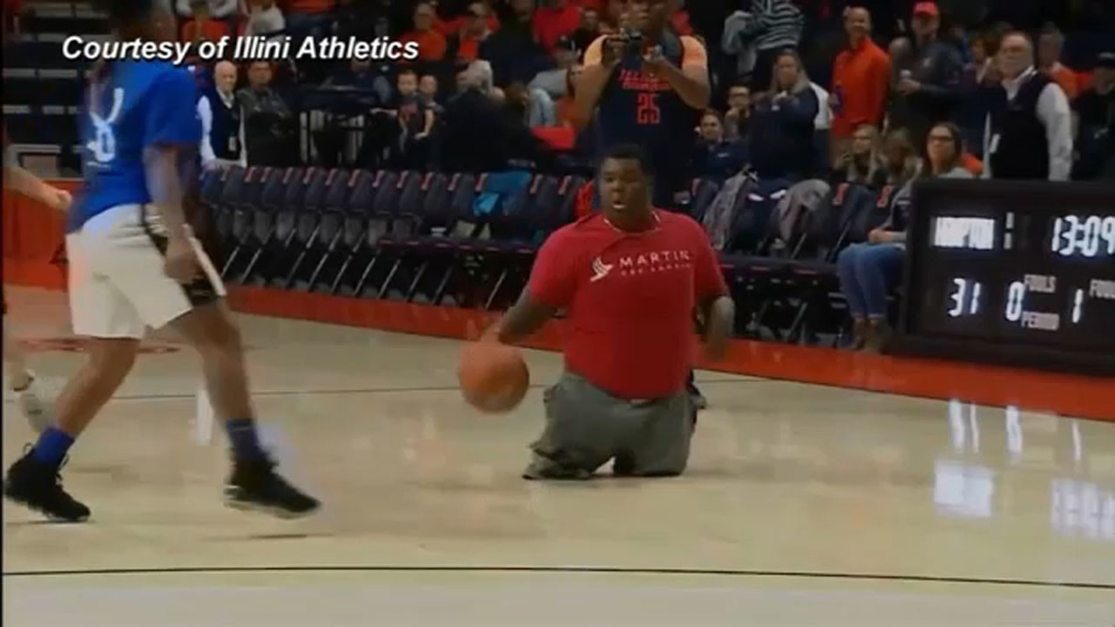 7th grader with no legs impresses with basketball skills in televised game